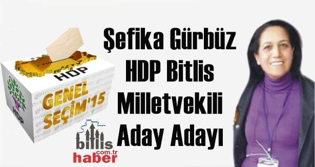 Şefika Gürbüz HDP Bitlis Milletvekili Aday Adayı