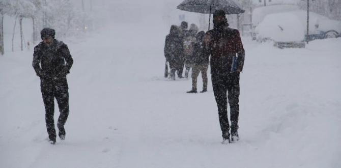 12 ilde eğitime kar engeli! Yarın da tatil!