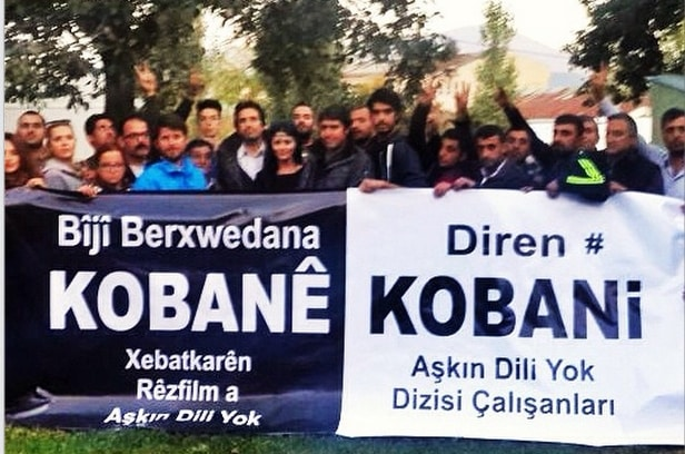 Aşkın Dili Yok Dizisi Çalışanlarından Kobani'ye Destek