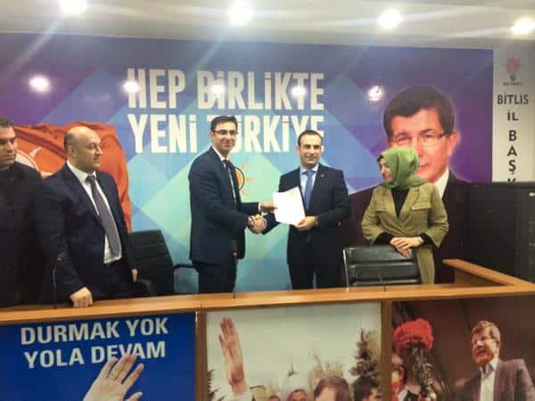 Adnan Süphanoğlu, Adaylık Başvurusunu Yaptı