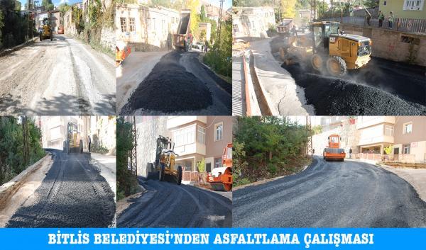 Bitlis Belediyesi'nden Asfaltlama Çalışmaları