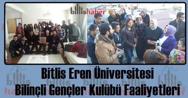 Bitlis Eren Üniversitesi Bilinçli Gençler Kulübü Faaliyetleri