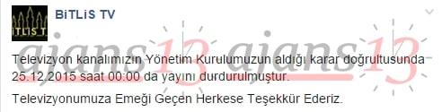 Bitlis TV Yayınını Durdurma Kararı Aldı2