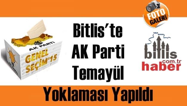 Bitlis'te AK Parti Temayül Yoklaması Yapıldı