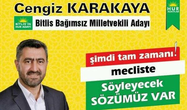 Cengiz Karakaya Bitlis Bağımsız Milletvekili Adayı