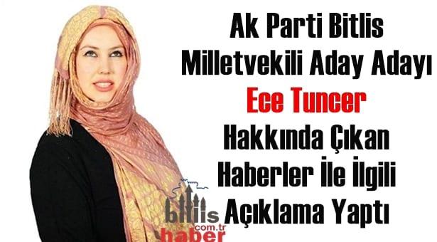Ece Tuncer Hakkında Çıkan Haberler İle İlgili Açıklama Yaptı