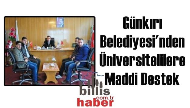 Günkırı Belediyesi'nden Üniversitelilere Maddi Destek