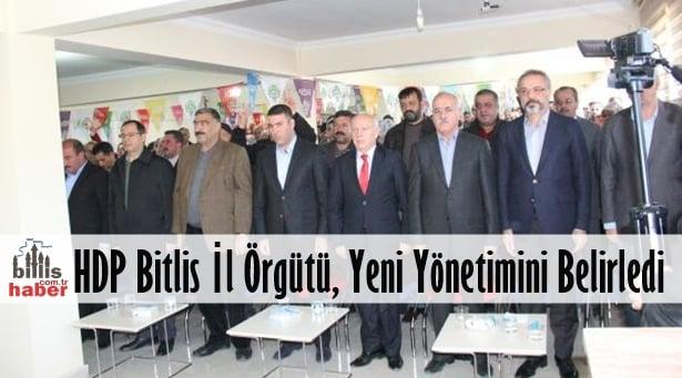 HDP Bitlis İl Örgütü, Yeni Yönetimini Belirledi