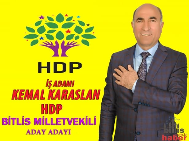 Kemal Karaslan HDP Bitlis Milletvekili Aday Adayı