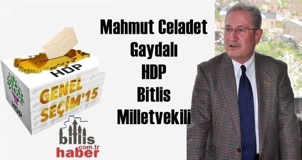 Mahmut Celadet Gaydalı 25. Dönem HDP Bitlis Milletvekili