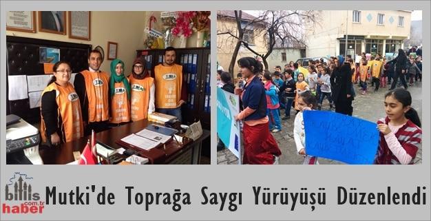 Mutki'de Toprağa Saygı Yürüyüşü Düzenlendi