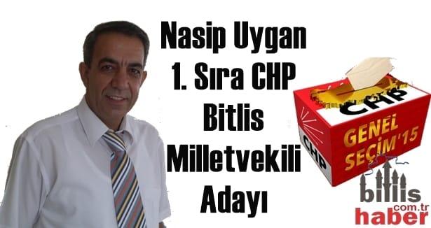 Nasip Uygan 1. Sıra CHP Bitlis Milletvekili Adayı