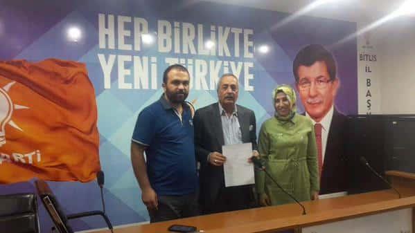Nuri Dağdağan AK Parti Bitlis Milletvekili Aday Adaylığı Başvurusunu Yaptı