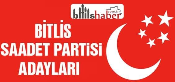 Saadet Partisi Bitlis Milletvekili Adayları