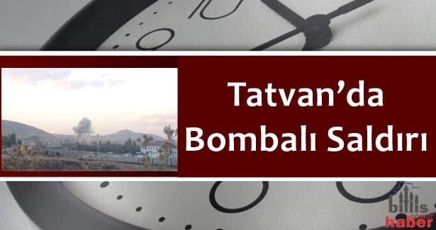 Tatvan'da Bombalı Saldırı – GÖRÜNTÜLÜ