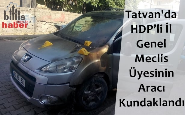 Tatvan'da HDP'li İl Genel Meclis Üyesinin Aracı Kundaklandı