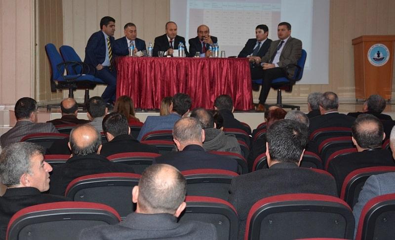 Tatvan'da Okul Müdürleriyle Toplandı Düzenlendi