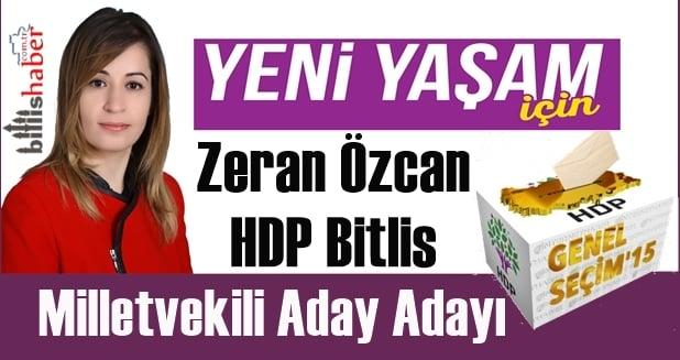 Zeran Özcan HDP Bitlis Milletvekili Aday Adayı