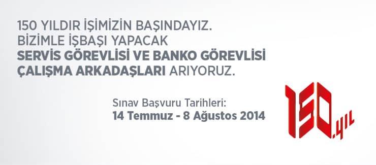 Ziraat Bankası Servis ve Banko Görevlisi Alacak