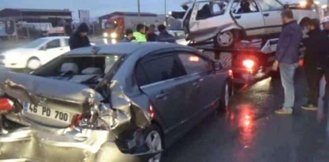 Alkollü sürücü dehşet saçtı: 3'ü çocuk, 7 yaralı