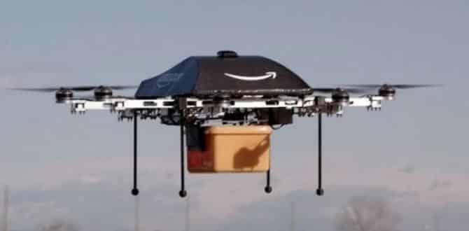 Amazon'dan uçan depo projesi