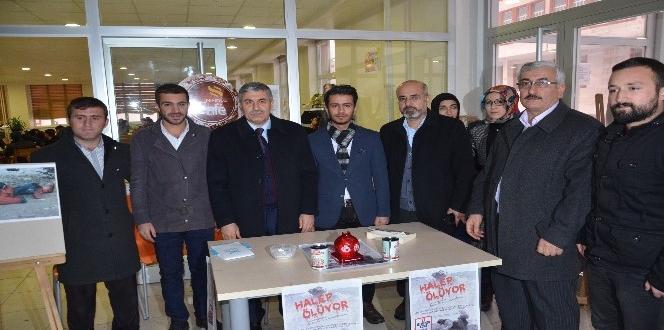 Başkan Aksoy'dan BEÜ'lü öğrencilerin 'Halep İçin Yardım Kampanyasına' destek ziyareti