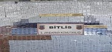 Bitlis'te 20 bin 110 paket kaçak sigara ele geçirildi