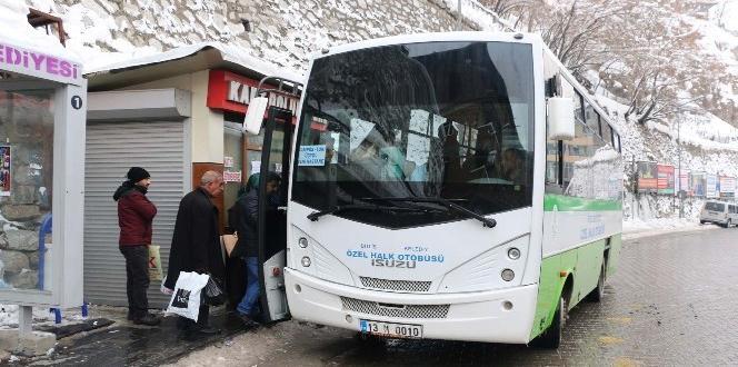Bitlis'te şehir içi otobüs seferlerinde düzenleme