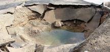Bodrum'da bir anda yer yarıldı, 4 metrelik çukur açıldı!