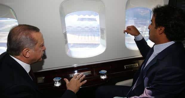 Cumhurbaşkanı Erdoğan ile Katar Emiri Şeyh Temim Hamad El-Tani Trabzon'da buluştu