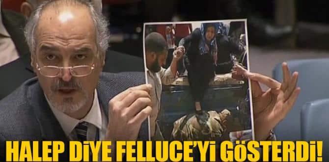 Halep diye Felluce'yi gösterdi
