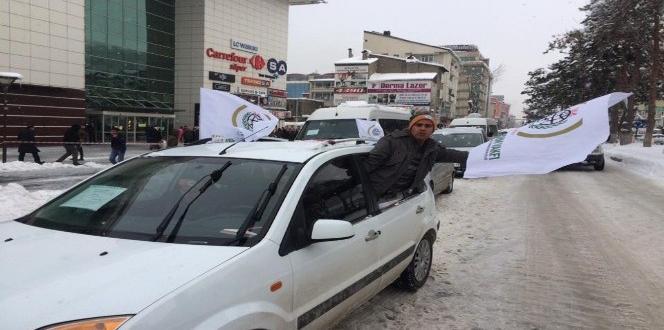 Halep konvoyu Bitlis'ten yola çıktı