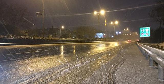İstanbul'dan kar manzaraları!