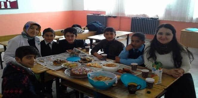 Köy okulunda Yerli Malı Haftası kutlandı