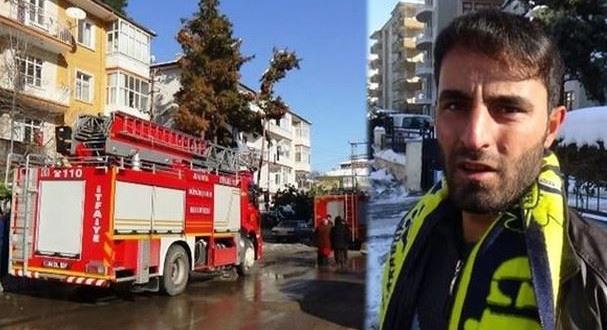 Malatya'da seyyar satıcı anneyle 3 çocuğunu yangından kurtardı