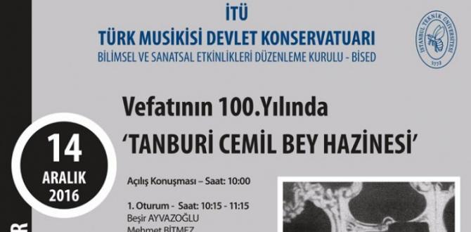Tanburi Cemil Bey ölümünün 100. Yılında anılıyor