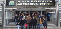 Tiyatroculardan Başkan Aksoy'a ziyaret
