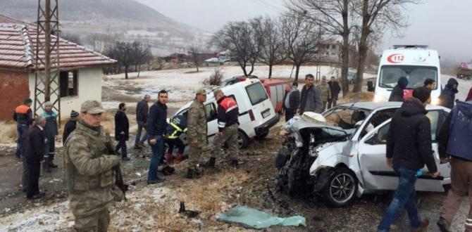 Tokat'ta feci kaza: 2 ölü, 3 yaralı
