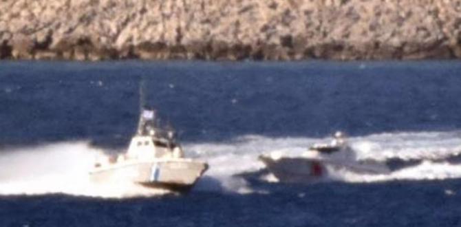 Türk ve Yunan botları arasında sıcak temas